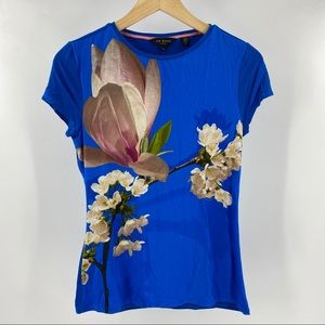 Ted Baker aeesha harmony fitted t-shirt blue